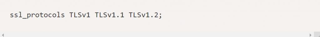 Nginx ssl protocol
